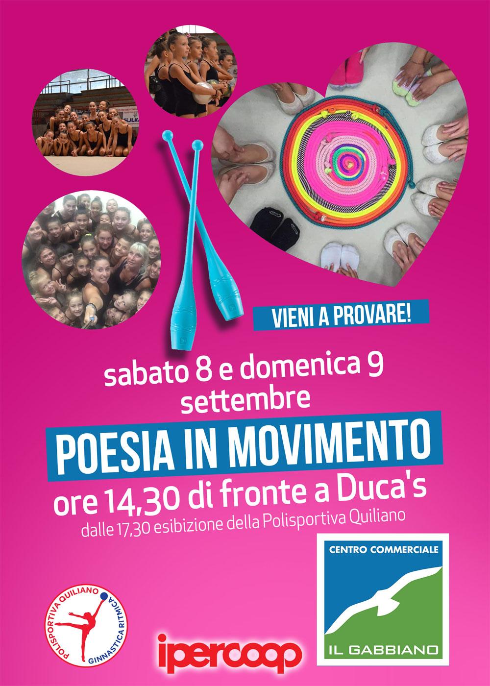 Poesia in movimento 8-9 settembre Centro Commerciale Il Gabbiano Savona